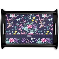 Chinoiserie Black Wooden Tray (Personalized)
