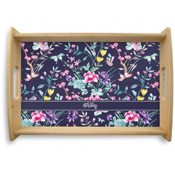 Chinoiserie Natural Wooden Tray (Personalized)