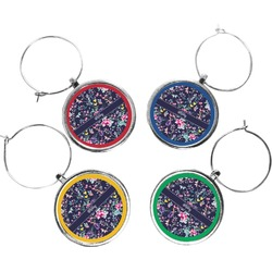 Chinoiserie Wine Charms (Set of 4) (Personalized)