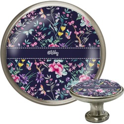 Chinoiserie Cabinet Knob (Silver) (Personalized)