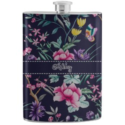 Chinoiserie Stainless Steel Flask (Personalized)