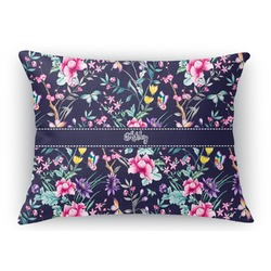 Chinoiserie Rectangular Throw Pillow Case (Personalized)