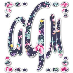 Chinoiserie Monogram Decal - Small (Personalized)