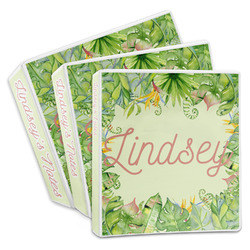 Tropical Leaves Border 3-Ring Binder (Personalized)