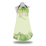 Tropical Leaves Border Apron (Personalized)