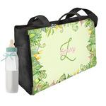 Tropical Leaves Border Diaper Bag w/ Name and Initial