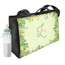 Tropical Leaves Border Diaper Bag (Personalized)