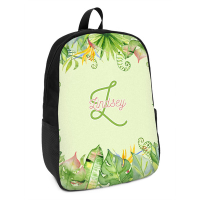 Tropical Leaves Border Kids Backpack (Personalized)