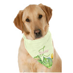 Tropical Leaves Border Dog Bandana Scarf w/ Name and Initial