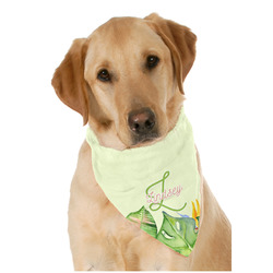 Tropical Leaves Border Pet Bandanas (Personalized)