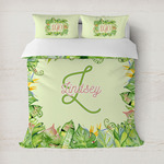 Tropical Leaves Border Duvet Cover (Personalized)