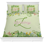 Tropical Leaves Border Comforters (Personalized)