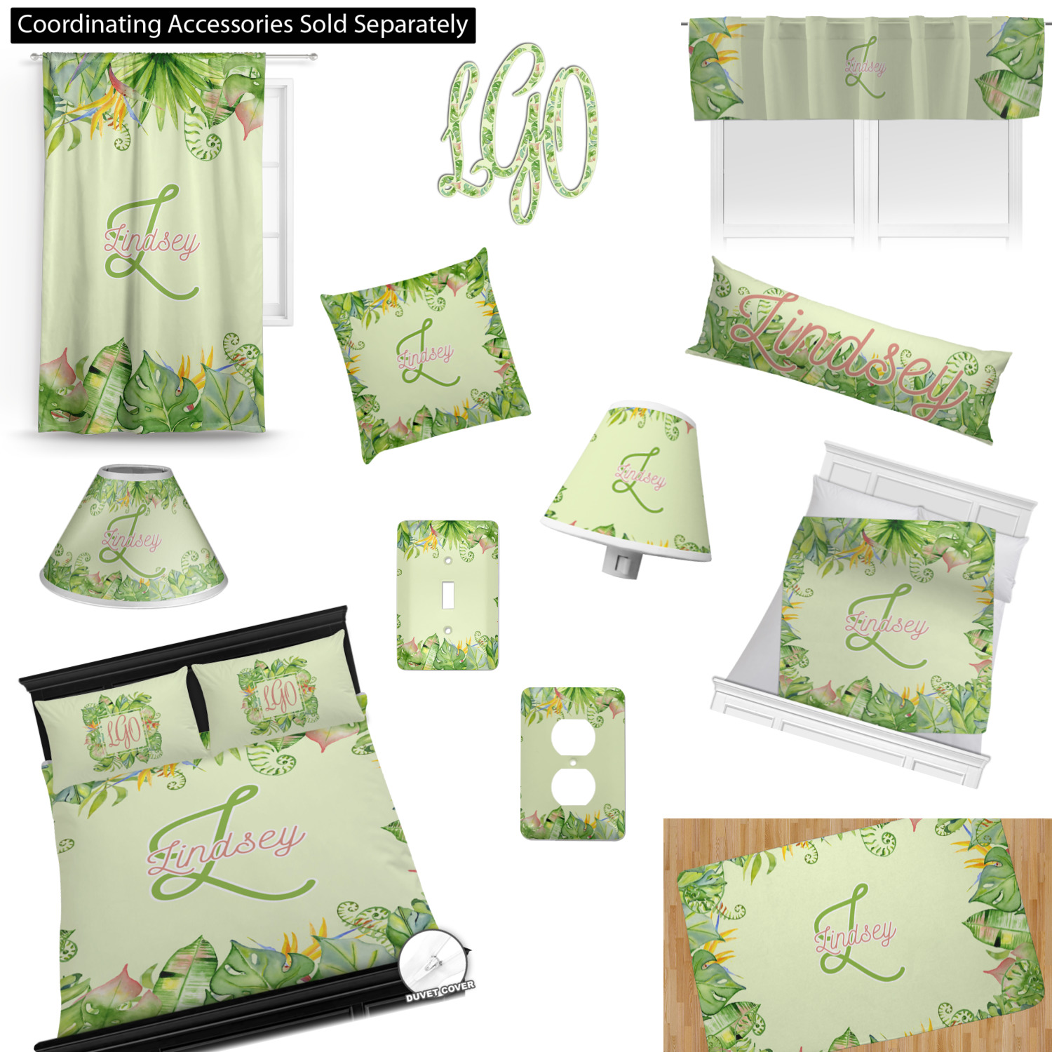 Tropical Decor Bedding Duvet Cover Set Twin Queen King with Zipper and Ties