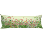 Tropical Leaves Border Body Pillow Case (Personalized)