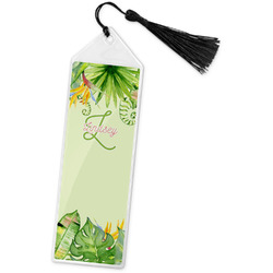 Tropical Leaves Border Book Mark w/Tassel (Personalized)
