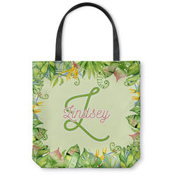Tropical Leaves Border Canvas Tote Bag (Personalized)