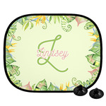 Tropical Leaves Border Car Side Window Sun Shade (Personalized)