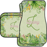 Tropical Leaves Border Car Floor Mats (Personalized)