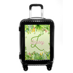 Tropical Leaves Border Carry On Hard Shell Suitcase (Personalized)