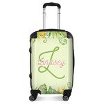 Tropical Leaves Border Suitcase (Personalized)