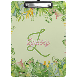 Tropical Leaves Border Clipboard (Personalized)