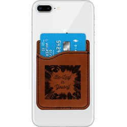 Tropical Leaves Border Leatherette Phone Wallet (Personalized)