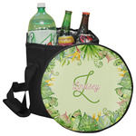 Tropical Leaves Border Collapsible Cooler & Seat (Personalized)