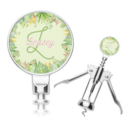 Tropical Leaves Border Corkscrew (Personalized)