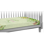 Tropical Leaves Border Crib Fitted Sheet (Personalized)