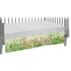 Tropical Leaves Border Crib Skirt (Personalized)