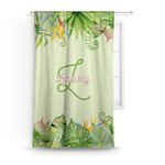 Tropical Leaves Border Curtain (Personalized)