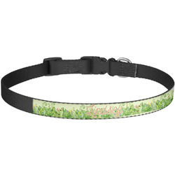 Tropical Leaves Border Dog Collar - Large (Personalized)