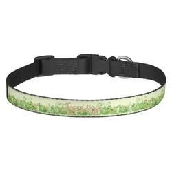 Tropical Leaves Border Dog Collar - Medium (Personalized)