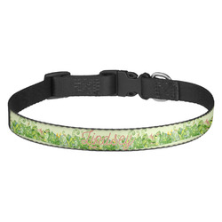 Tropical Leaves Border Dog Collar (Personalized)