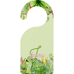 Tropical Leaves Border Door Hanger (Personalized)