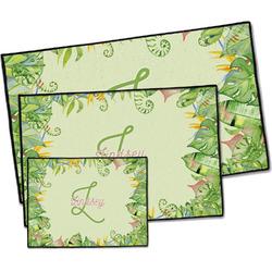 Tropical Leaves Border Door Mat (Personalized)