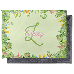 Tropical Leaves Border Microfiber Screen Cleaner (Personalized)