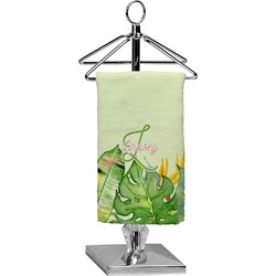 Tropical Leaves Border Finger Tip Towel - Full Print (Personalized)