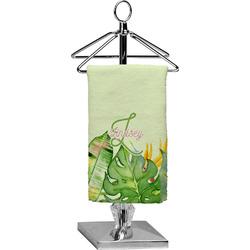 Tropical Leaves Border Finger Tip Towel - Full Print (Personalized)
