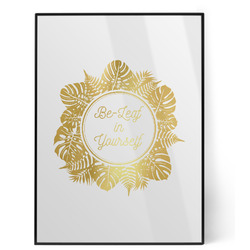 Tropical Leaves Border Foil Print (Personalized)