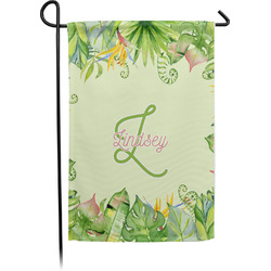 Tropical Leaves Border Garden Flag - Single or Double Sided (Personalized)
