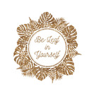 Tropical Leaves Border Glitter Iron On Transfer- Custom Sized (Personalized)