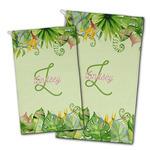 Tropical Leaves Border Golf Towel - Full Print w/ Name and Initial