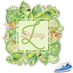 Tropical Leaves Border Graphic Iron On Transfer (Personalized)
