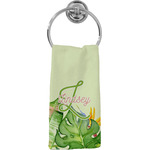 Tropical Leaves Border Hand Towel - Full Print (Personalized)