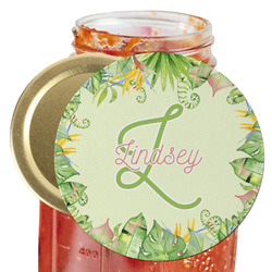 Tropical Leaves Border Jar Opener (Personalized)