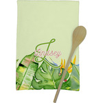 Tropical Leaves Border Kitchen Towel - Full Print (Personalized)