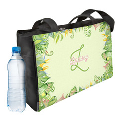 Tropical Leaves Border Ladies Workout Bag (Personalized)