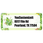 Tropical Leaves Border Return Address Labels (Personalized)