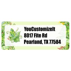 Tropical Leaves Border Return Address Label (Personalized)